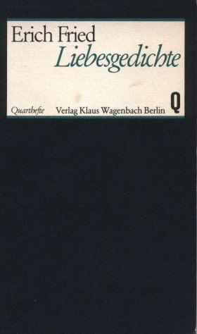 Famoso Deutsche Liebeslyrik Archiv - Buch: Erich Fried Liebesgedichte YM36